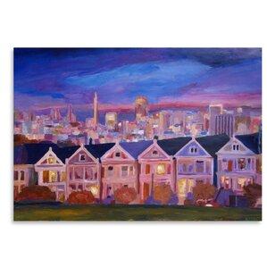 San Francisco Painted Ladies Painting