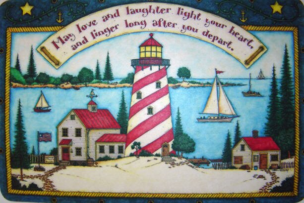 Light House Door mat from Amazon!