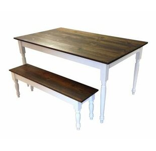 Darby Home Co Auberta Solid Wood Dining T..