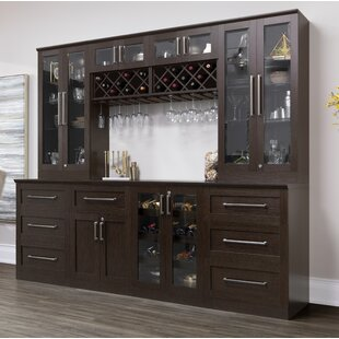 Home Shaker Style Back Bar with Wine Storage by NewAge Products