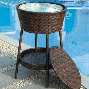 Gentil Crosslin Outdoor Summer Wicker Ice Bucket Stand