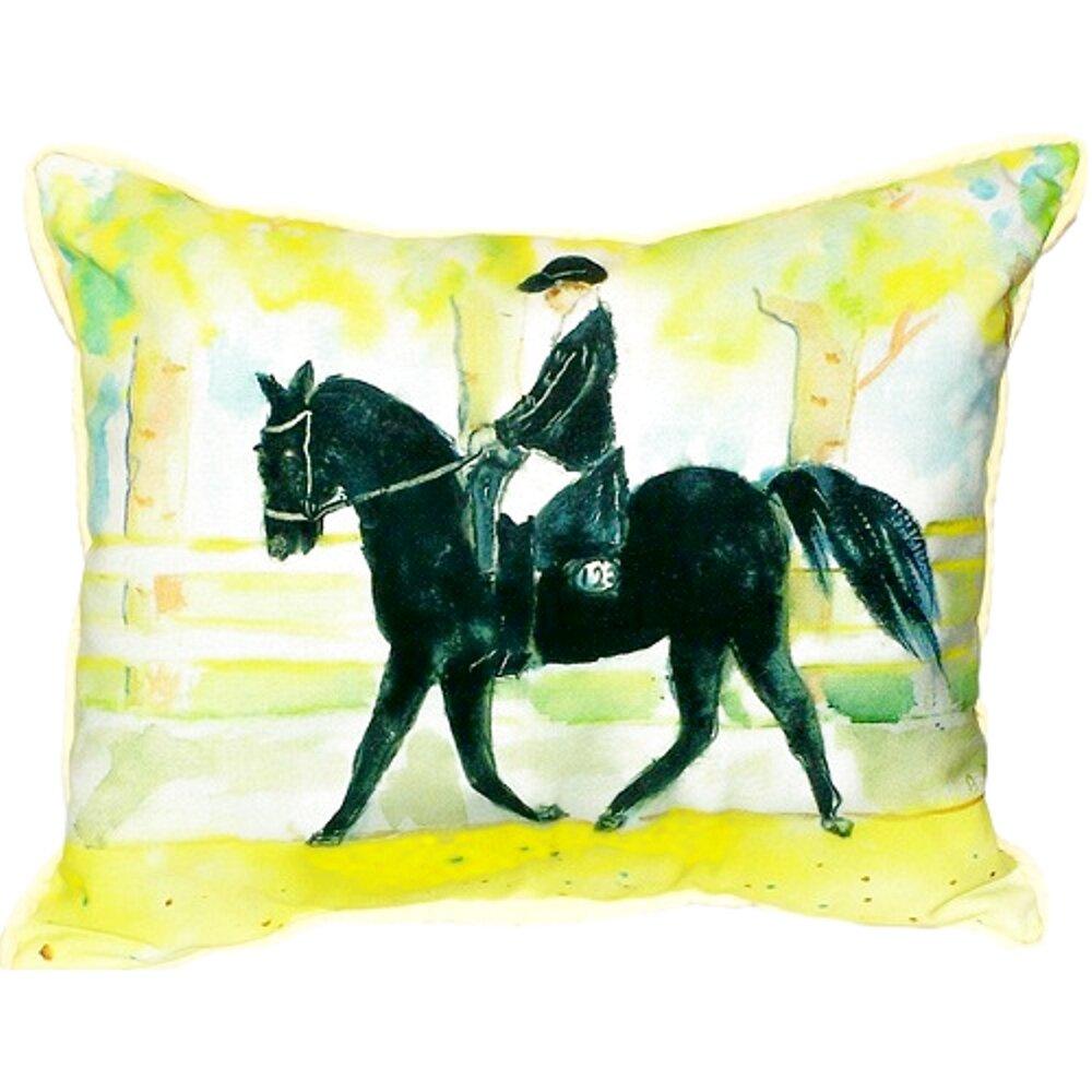 Betsy Drake Interiors Horse And Rider Indoor Outdoor Lumbar Pillow Wayfair