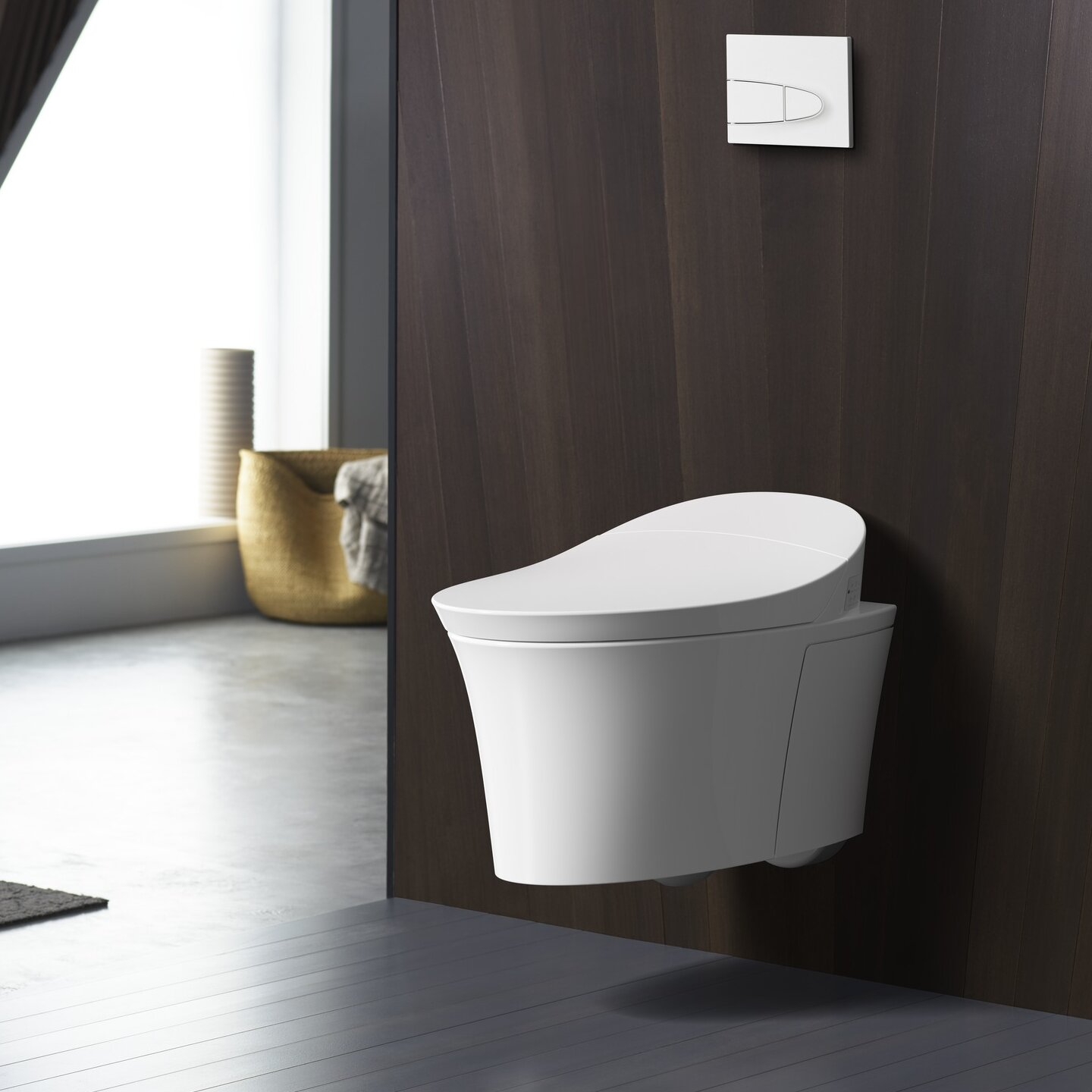 K 5402 0 Veil Intelligent Wall Hung Toilet With Touchless Flush
