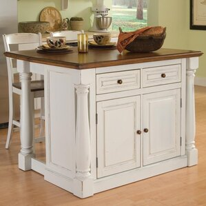 Giulia 3 Piece Kitchen Island Set by Laurel Foundry Modern Farmhouse
