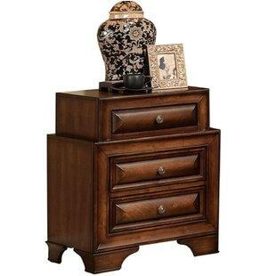 Haygarden Wooden 3 Drawer Nightstand by World Menagerie
