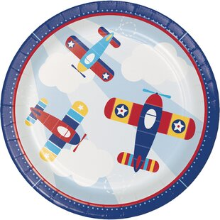 Toy Airplane Paper Plate (Set of 24)