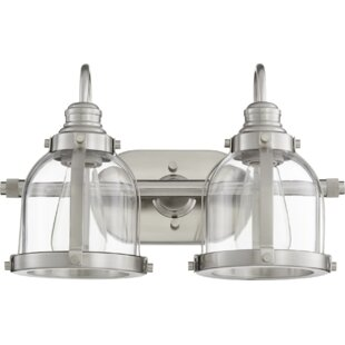 Price comparison Dishman Banded Dome 2-Light Vanity Light ByBreakwater Bay
