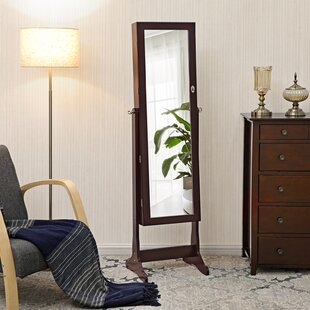 Pringle Free standing Jewelry Armoire with Mirror