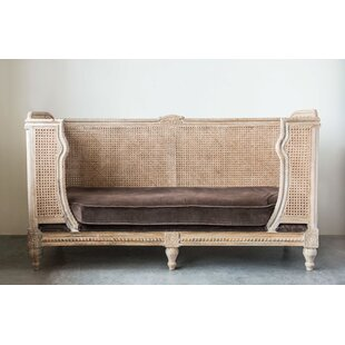 Jurgensen Mango Wood & Cane Daybed with Mattress by Bungalow Rose