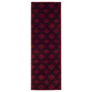 Double Lattice Red Area Rug