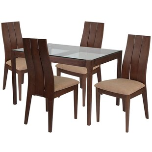 Aiden 5 Piece Dining Set by Ebern Designs