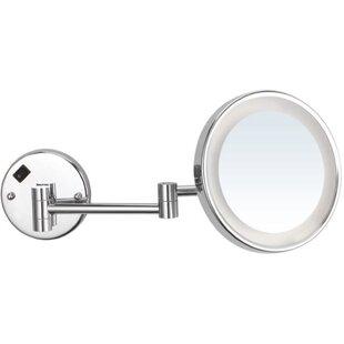 Glimmer by Nameeks Round Wall Mounted Makeup Bathroom / Vanity Mirror
