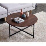 Adelino Cross Legs Coffee Table by Ebern Designs