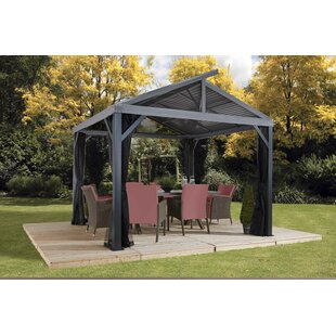 South Beach II 12 Ft. W x 12 Ft. D Aluminum Patio Gazebo by Sojag