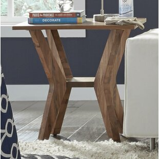 Omro Walnut Wood End Table