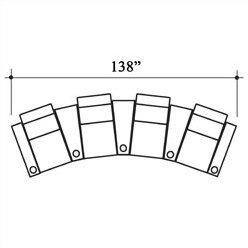 Penthouse Leather Home Theater Row Seating Row of 4 by Bass