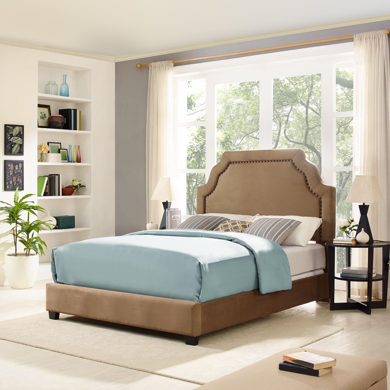 Alcott Hill Benedict Keystone Upholstered Standard Bed