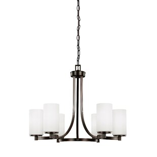 Burnley 100W 6-Light Shaded Chandelier by Darby Home Co
