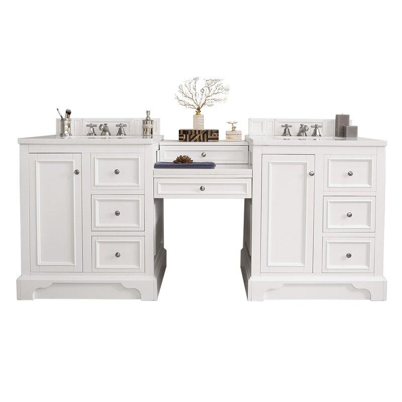 James Martin Furniture De Soto 85 Double Bathroom Vanity Set Perigold