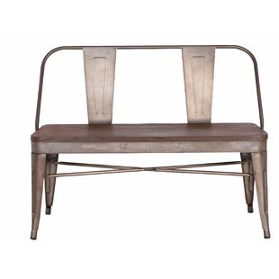 Williston Forge Goza Metal Bench