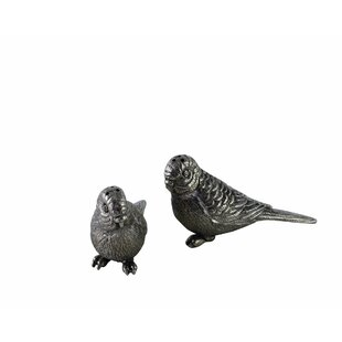 Tropical Tales Pewter Bird Salt And Pepper Shaker Set by Vagabond House
