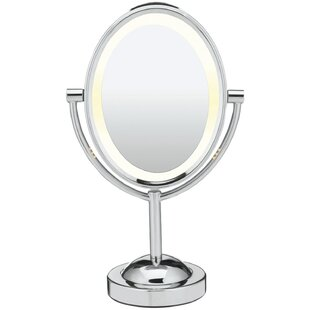Reviews Hattie Reflections Double-Sided Lighted Oval Makeup Mirror ByAlcott Hill