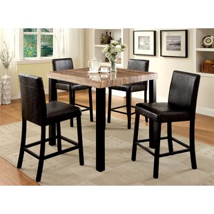 Hokku Designs Baylor 5 Piece Counter Height Pub Table Set