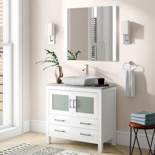 Compare prices Stanardsville 30 Single Bathroom Vanity Set with Mirror ByBrayden Studio