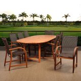 Ranks International Home Outdoor 9 Piece Dining Set