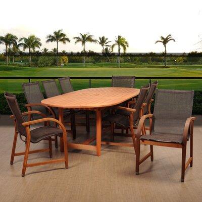 Ranks International Home Outdoor 9 Piece Dining Set by Ebern Designs Best