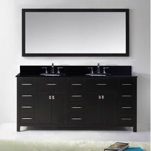 Savitsky 73 Double Bathroom Vanity Set with Mirror by Latitude Run