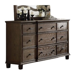 Reviews Plains 9 Drawer Standard Dresser by Ophelia & Co.