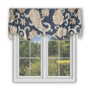 Gaener Lined Scallop 50 Window Valance by Darby Home Co