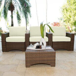 Key Biscayne 4 Piece Theater Seating Set with Cushions