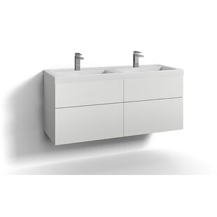 Philomene 120cm Wall-Mounted Vanity Unit Base By Ebern Designs