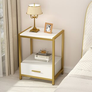 Heinz 1  Drawer Nightstand in WhiteGold