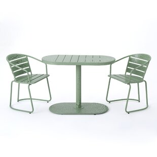 Alegre Outdoor Crackle 3 Piece Bistro Set