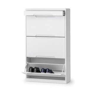 Atsabe 12 Pair Shoe Storage Cabinet By Wade Logan