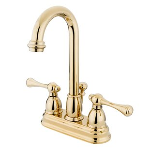 Price Check Vintage Centerset Bathroom Faucet with ABS Pop-Up Drain By Kingston Brass