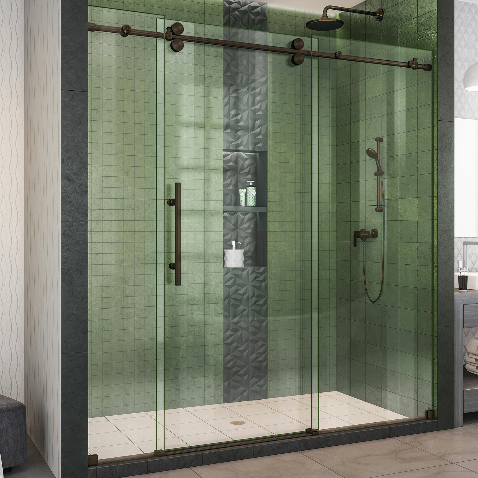 Dreamline Enigma Xo 72 X 76 Sliding Frameless Shower Door With