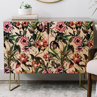 Marta Barragan Camarasa Blooms Credenza by East Urban Home