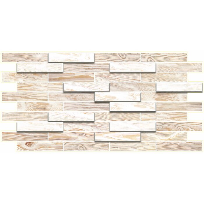"dundee deco falkirk 3d 38"" w x 19"" l vinyl wall paneling"