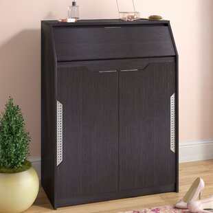 Compare Espresso 12-Pair Shoe Storage Cabinet By Latitude Run
