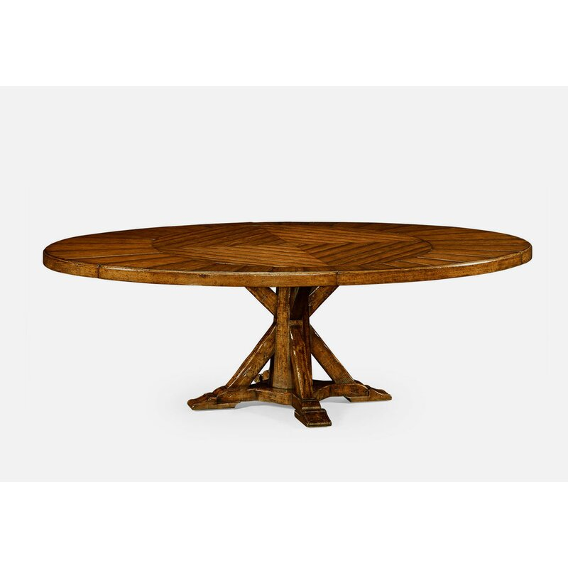 Jonathan Charles Fine Furniture Extendable Solid Wood Dining Table Perigold