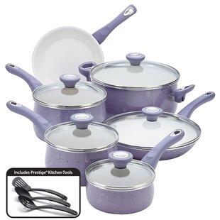 Aluminum Cookware Speckled Nonstick 14 Piece Cookware Set