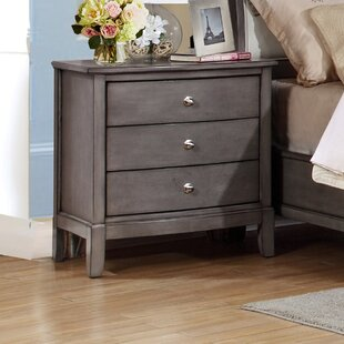 Gracie Oaks Tanya 3 Drawer Nightstand