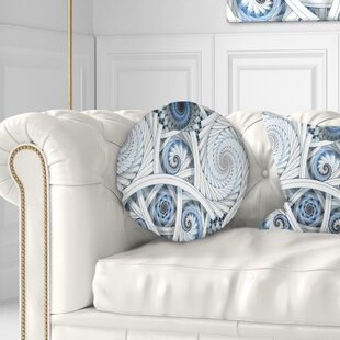 Abstract Spiral with Fractal Art Throw Pillow