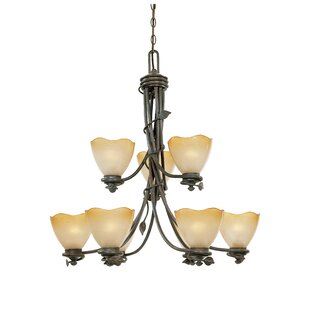 Designers Fountain Timberline 9-Light Shaded Chandelier