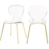 Eudora Stacking Side Chair in Clear (Set of 2) by Mercer41