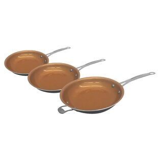 Gotham Steel 3 Piece Non-Stick Frying Pan/Skillet Set